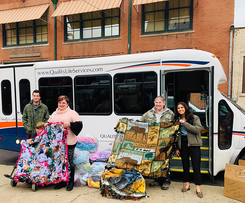 Blankets for Pittsburgh Mercy's Operation