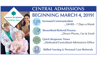 Quality Life Services Launches New Central Admissions process to Western Pennsylvania 's Senior Care and Medical Communities