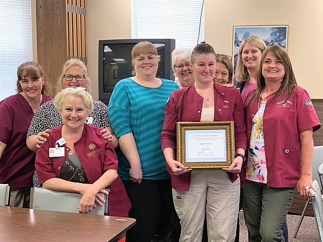 #FamilyMoment: Logan Presley receives March 2019 Caregiver Excellence Award