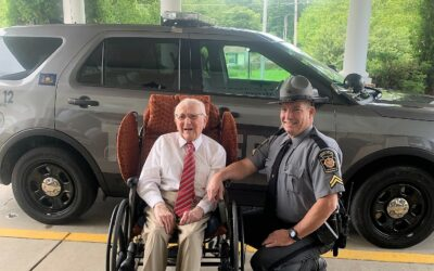 Resident Spotlight: Retired State Trooper is paid visit for final ride along